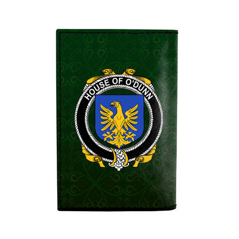 Image of (Laser Personalized Text) Dunn or O'Dunn Family Crest Minimalist Wallet K6