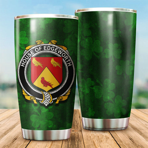 Edgeworth Family Crest Ireland Shamrock Tumbler Cup K6