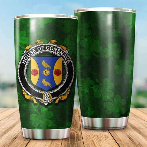 Forde or Consnave Family Crest Ireland Shamrock Tumbler Cup K6