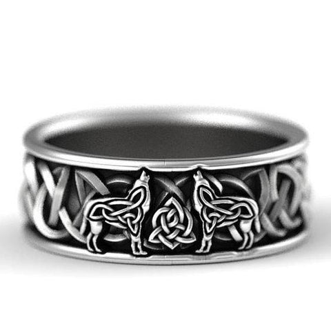 1stIreland Ring, Celtic Knot and Northern Wolf Ring