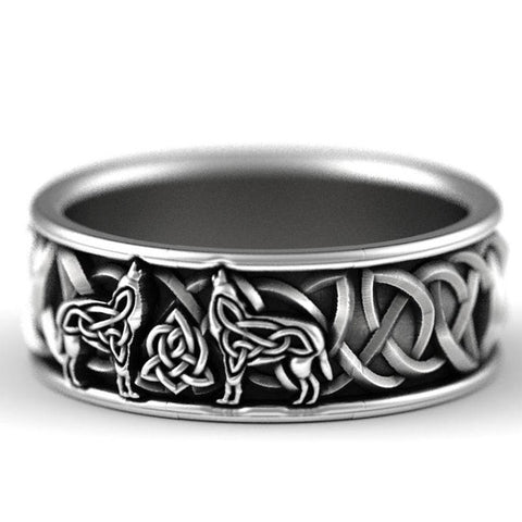 1stIreland Ring, Celtic Knot and Northern Wolf Ring Th00