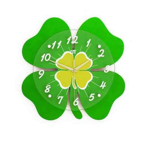 Lucky Four-Leaf Clover Limited Edition Wall Clock