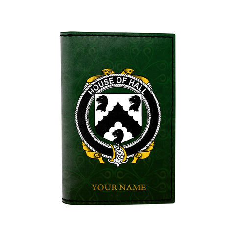 (Laser Personalized Text) Hall or MacHall Family Crest Minimalist Wallet