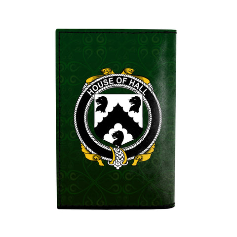 (Laser Personalized Text) Hall or MacHall Family Crest Minimalist Wallet K6