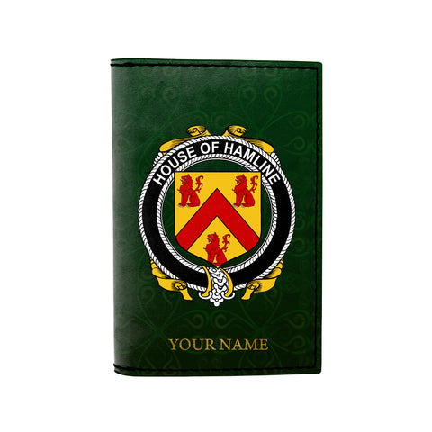 (Laser Personalized Text) Hamline Family Crest Minimalist Wallet