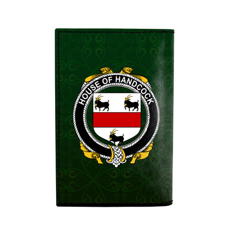 (Laser Personalized Text) Handcock Family Crest Minimalist Wallet K6