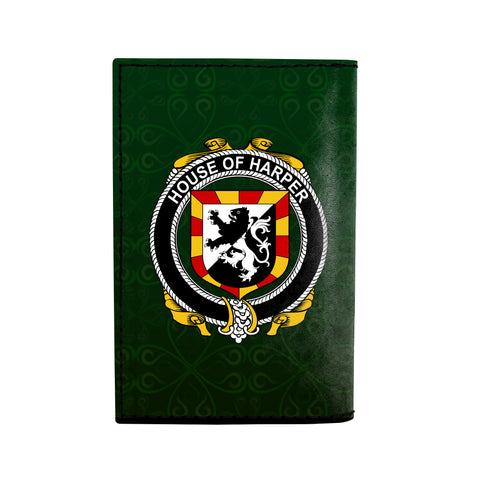 (Laser Personalized Text) Harper Family Crest Minimalist Wallet K6