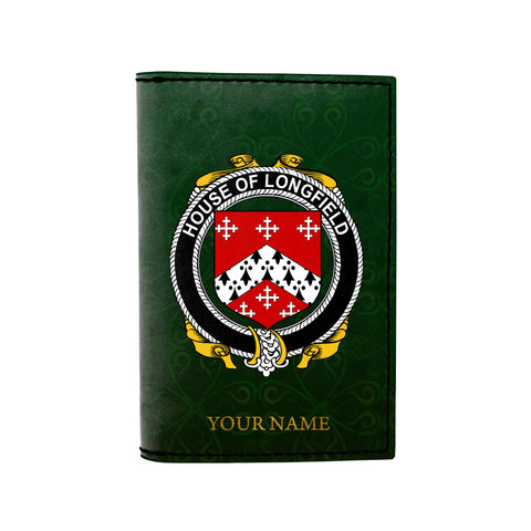 (Laser Personalized Text) Longfield Family Crest Minimalist Wallet