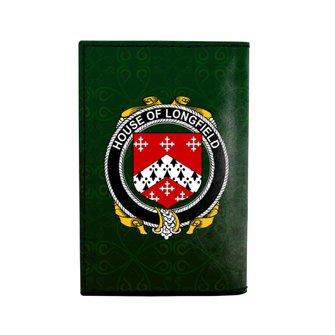 Image of (Laser Personalized Text) Longfield Family Crest Minimalist Wallet K6