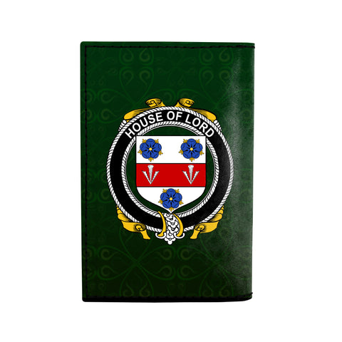 (Laser Personalized Text) Lord Family Crest Minimalist Wallet K6