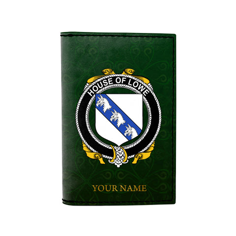 (Laser Personalized Text) Lowe Family Crest Minimalist Wallet