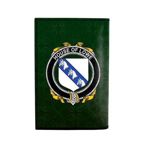 (Laser Personalized Text) Lowe Family Crest Minimalist Wallet K6