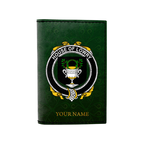 (Laser Personalized Text) Lowry or Lavery Family Crest Minimalist Wallet