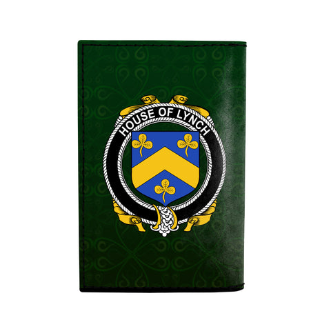 (Laser Personalized Text) Lynch Family Crest Minimalist Wallet K6