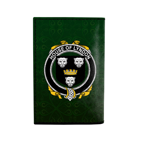 (Laser Personalized Text) Lyndon or Gindon Family Crest Minimalist Wallet K6