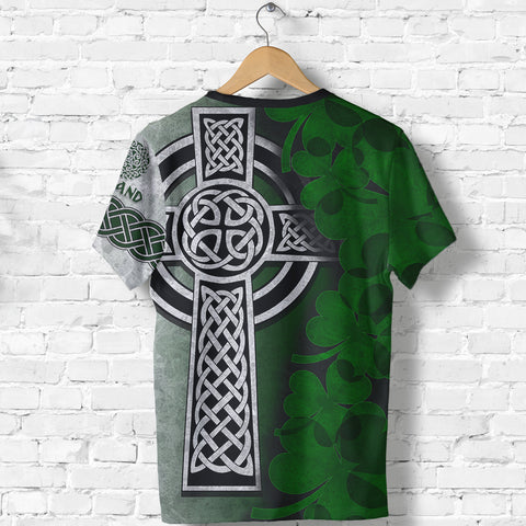 Irish Cross T-Shirt Ireland Shirt Shamrock Celtic Knot - St, Patrick's Day TH45