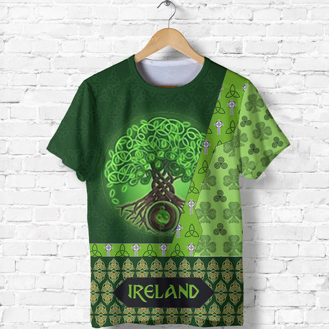 Image of Ireland T-Shirt Irish Celtic Tree Of Life Shirt Celtic Knot