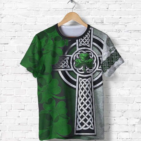 Irish Cross T-Shirt Ireland Shirt Shamrock Celtic Knot - St, Patrick's Day