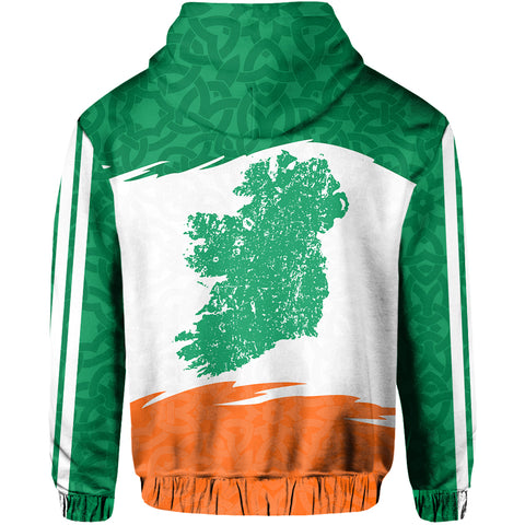 Ireland Hoodie Map Celtic Patterns