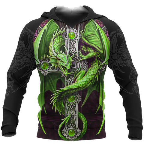 Dragon Cross Hoodie Ireland Dragon All Over Hoodie