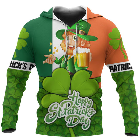 Ireland Hoodie Happy St, Patrick's Day Pullover Hoodie