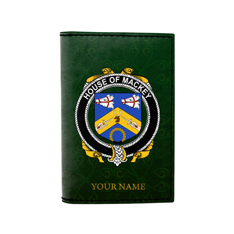 Image of (Laser Personalized Text) Mackey Family Crest Minimalist Wallet