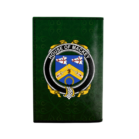 Image of (Laser Personalized Text) Mackey Family Crest Minimalist Wallet K6
