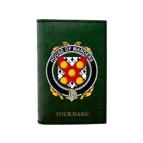 Image of (Laser Personalized Text) Manders Family Crest Minimalist Wallet