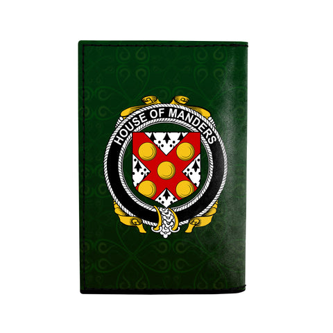 (Laser Personalized Text) Manders Family Crest Minimalist Wallet K6