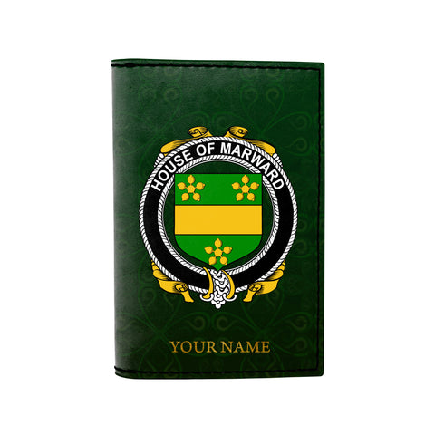 (Laser Personalized Text) Marward Family Crest Minimalist Wallet