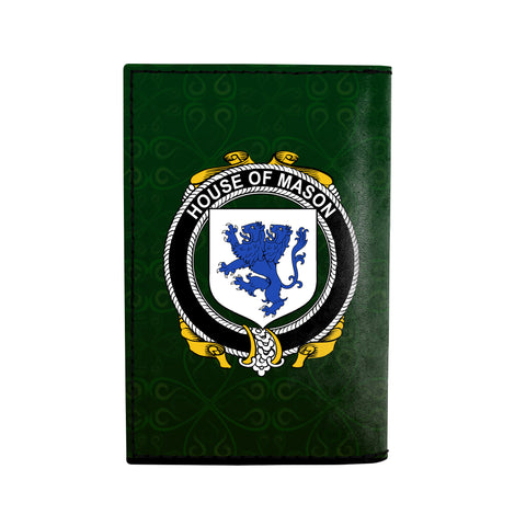 (Laser Personalized Text) Mason Family Crest Minimalist Wallet K6
