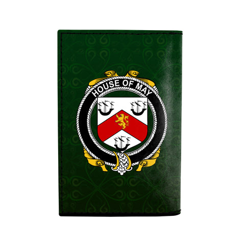 (Laser Personalized Text) May Family Crest Minimalist Wallet K6