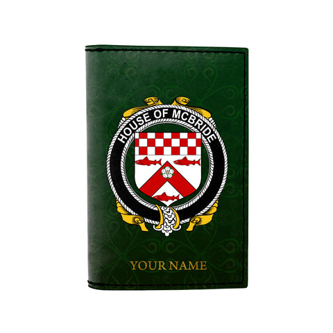 (Laser Personalized Text) McBride or MacBride Family Crest Minimalist Wallet