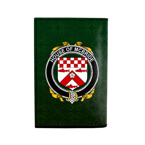 (Laser Personalized Text) McBride or MacBride Family Crest Minimalist Wallet K6