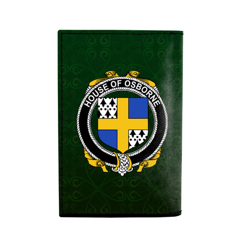 Image of (Laser Personalized Text) Osborne Family Crest Minimalist Wallet K6