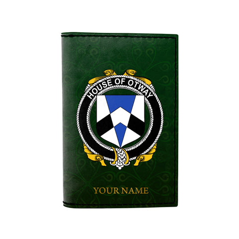 (Laser Personalized Text) Otway Family Crest Minimalist Wallet