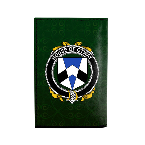 (Laser Personalized Text) Otway Family Crest Minimalist Wallet K6