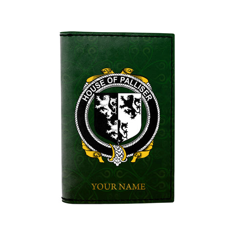 (Laser Personalized Text) Palliser Family Crest Minimalist Wallet