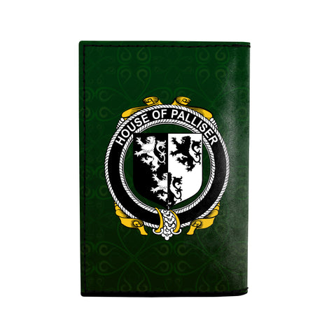 (Laser Personalized Text) Palliser Family Crest Minimalist Wallet K6