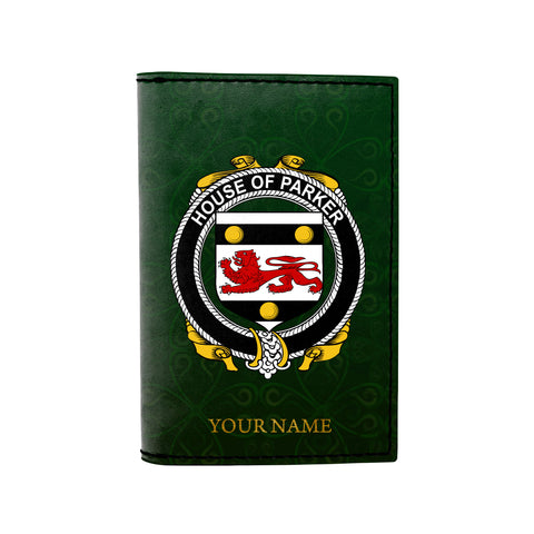 (Laser Personalized Text) Parker Family Crest Minimalist Wallet