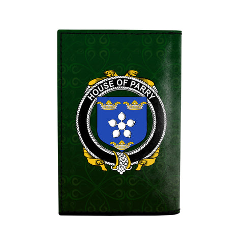 (Laser Personalized Text) Parry Family Crest Minimalist Wallet K6