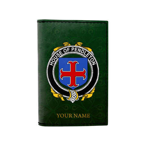 (Laser Personalized Text) Pendleton Family Crest Minimalist Wallet