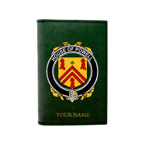 (Laser Personalized Text) Powell Family Crest Minimalist Wallet