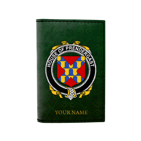 (Laser Personalized Text) Prendergast Family Crest Minimalist Wallet