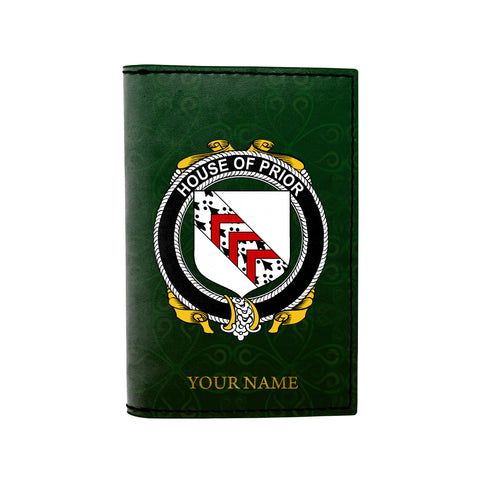 (Laser Personalized Text) Prior Family Crest Minimalist Wallet