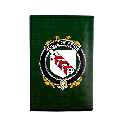 (Laser Personalized Text) Prior Family Crest Minimalist Wallet K6