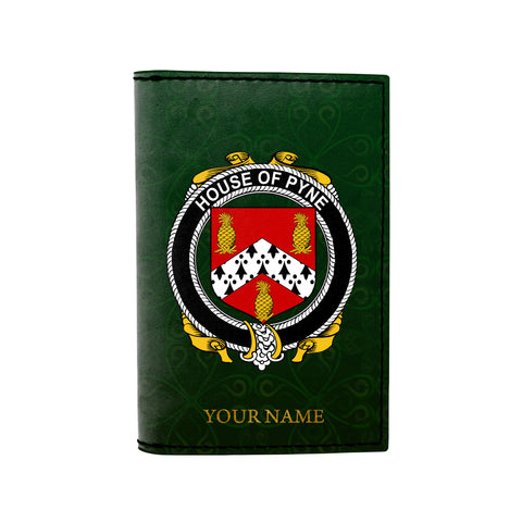 Image of (Laser Personalized Text) Pyne Family Crest Minimalist Wallet