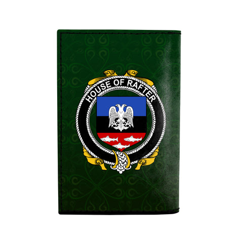 (Laser Personalized Text) Rafter Family Crest Minimalist Wallet K6