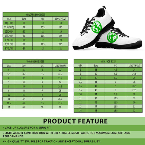 Image of Ireland Shamrock Shoes, St. Patrick's Day Sneakers A1