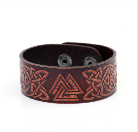 Celtic Knot Leather Bracelet